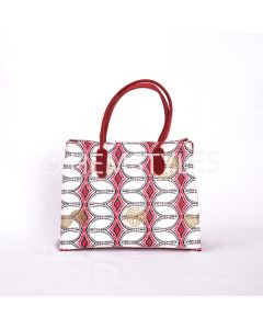 Loincloth Woodin and red velvet handbag