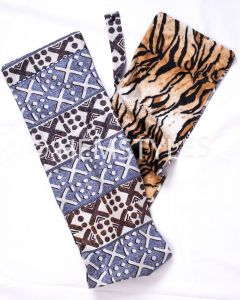 Woodin and tiger velvet scarf