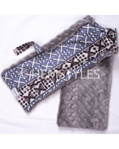 Grey fur and Woodin scarf