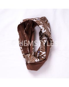 Brown Woodin snood