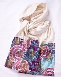 White and Woodin scarf with pockets