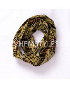 Snood en Woodin jaune